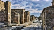 Las calles de Pompeya, Italia