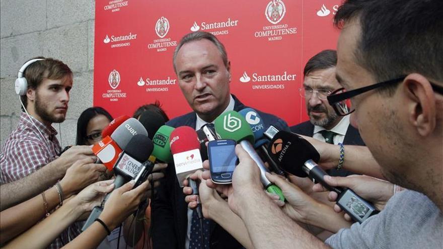 Fabra recalca que Valencia sólo reclama lo que le corresponde en justicia