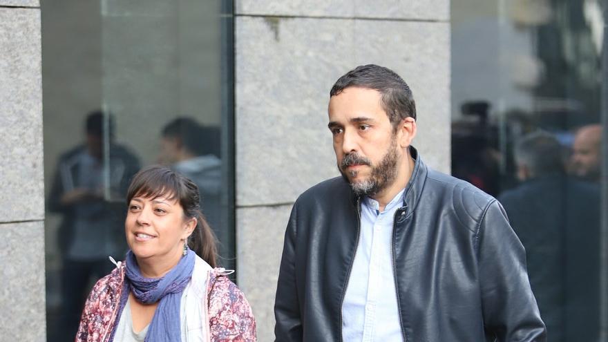 Rubens Ascanio llegando a los juzgados de La Laguna