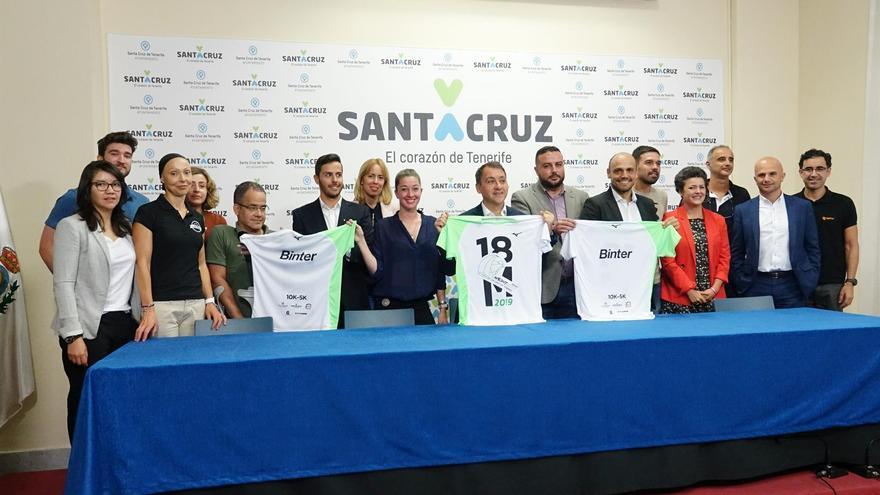 Presentación de la prueba atlética nocturna de este sábado en Santa Cruz de Tenerife