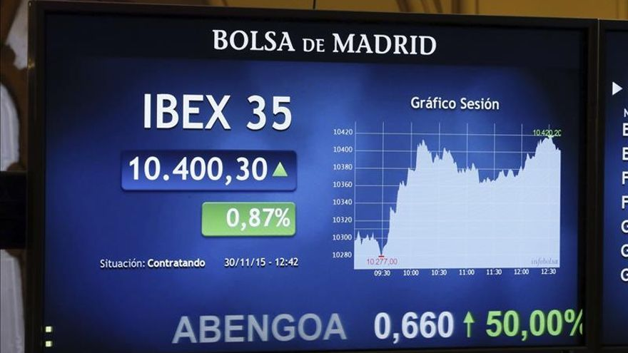 El IBEX 35 sube el 0,26 % tras la apertura y supera los 10.300 puntos