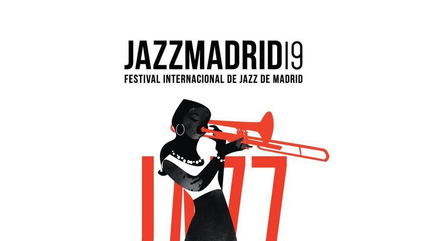 Cartel del Festival Internacional de Jazz de Madrid 2019, cuya imagen ha elegido Andrea Levy.