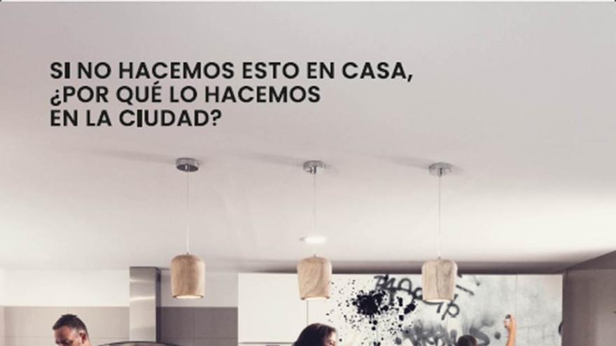 Cartel de la iniciativa sobre limpieza ideada por el Ayuntamiento de la capital tinerfeña