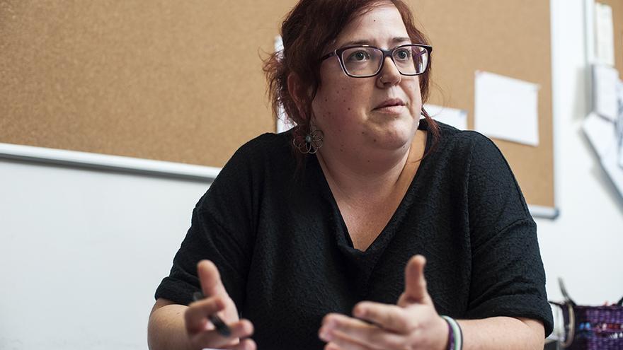 Verónica Ordóñez, portavoz parlamentaria de Podemos Cantabria.   JOAQUÍN GÓMEZ SASTRE