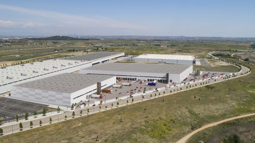 Imagen de un centro logístico en Getafe