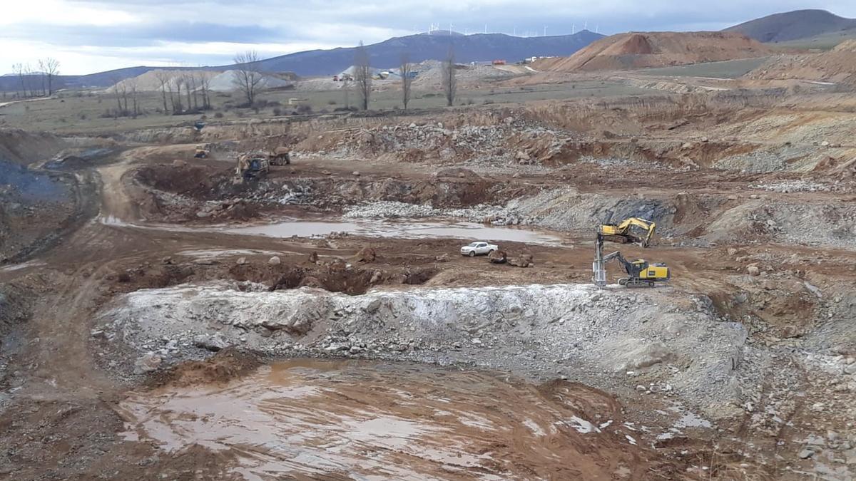 Mina de magnesita en Borobia (Soria)