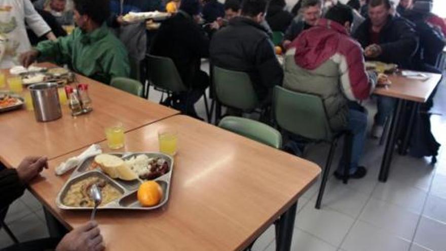 Un comedor social de Cáritas