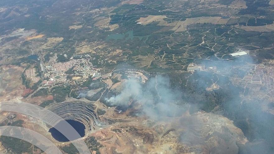 Activado el nivel 1 del Plan Infoca por el incendio forestal de Minas de Riotinto