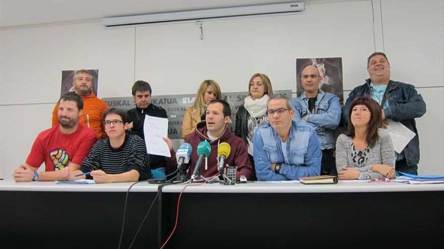 Rueda de prensa de ELA para dar a conocer la sentencia de TS sobre el ERE de Gamesa en Alsasua.