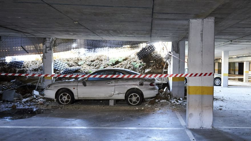 El desescombro del parking derrumbado en Santander comenzará esta semana junto con el estudio de las causas