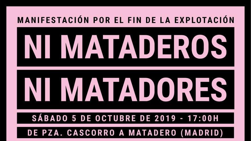 Cartel manifestación 5 de octubre