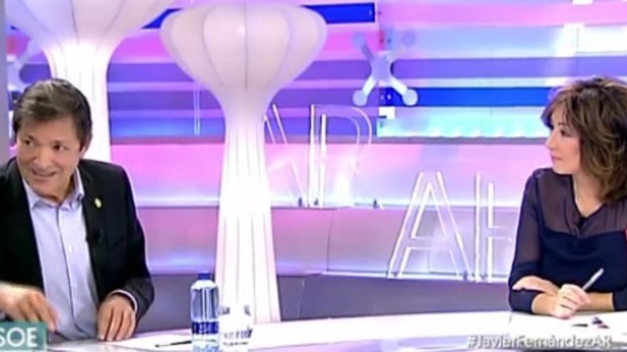 Javier Fernández, en El Programa de Ana Rosa. Foto: Telecinco