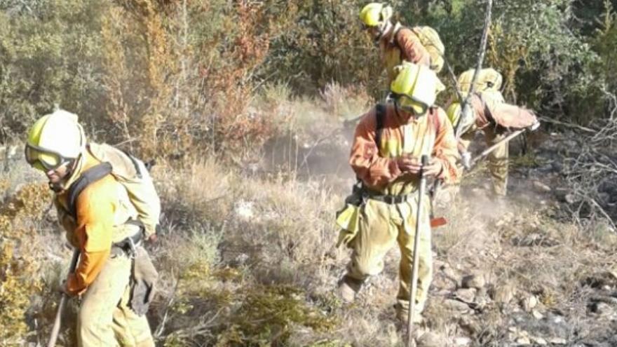 Hubo 13 incendios en Aragón en diciembre de 2017