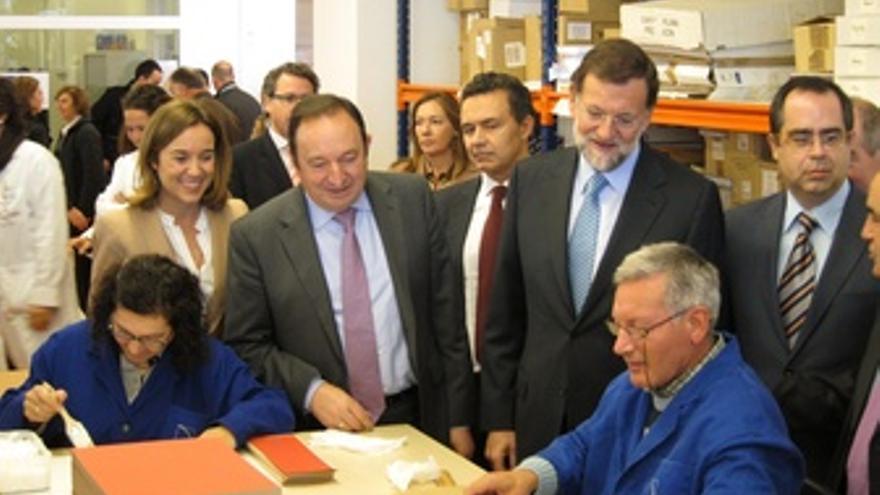 Mariano Rajoy Y Pedro Sanz, Visitan El Centro De Arps En Logroño