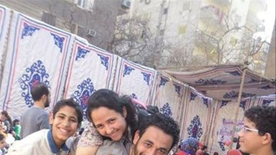 Aya Hijazi y su marido Mohamed Hassanein