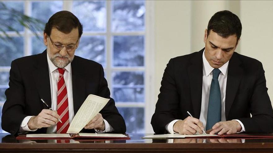 Rajoy y Sánchez analizan hoy la respuesta al proceso independentista
