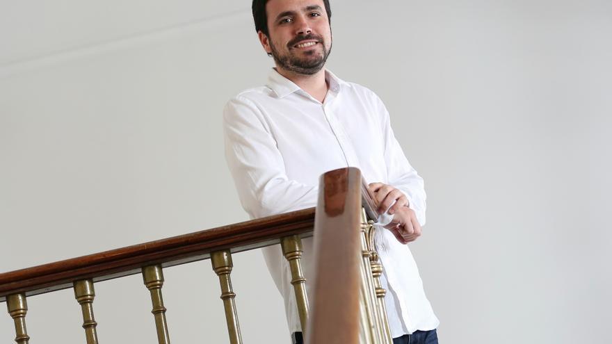 Alberto Garzón, en el Congreso de los Diputados.