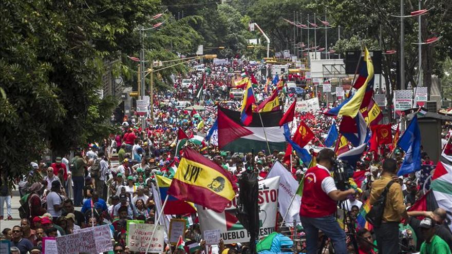 Repudian la ofensiva de Israel en una jornada solidaria con Palestina en Venezuela