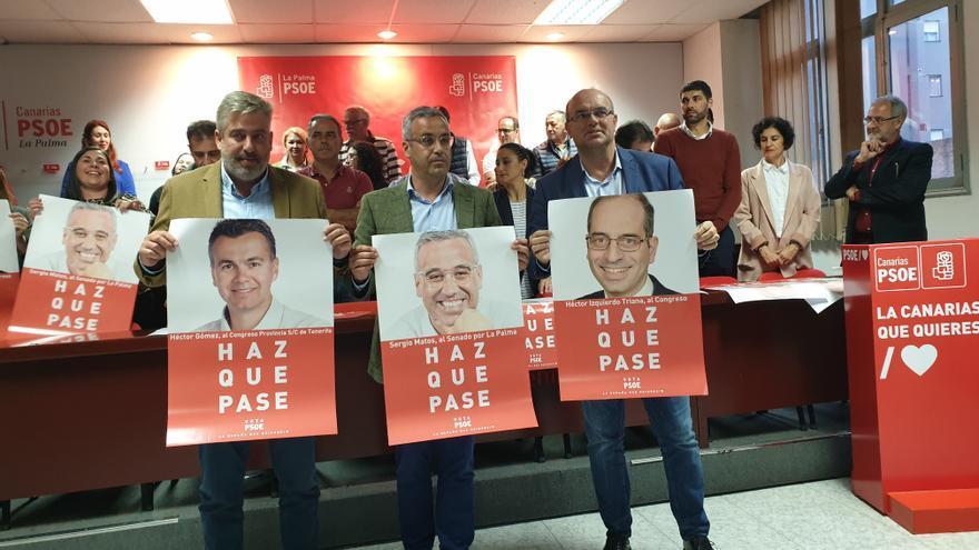 Presentación de Sergio Matos en la sede del PSOE.