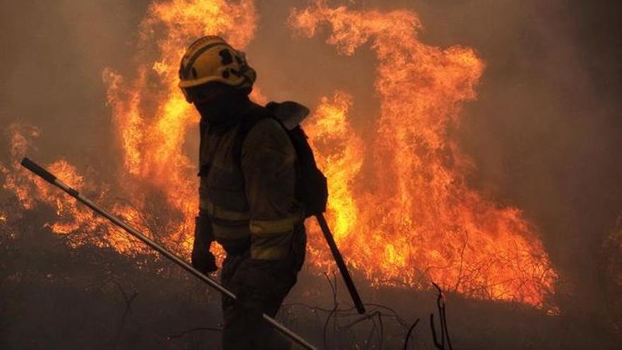 Imagen de los últimos incendios forestales ocurridos en Galicia