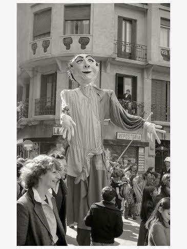 Gigante en la plaza del Dos de Mayo, 1981 | Foto: Pablo Linés