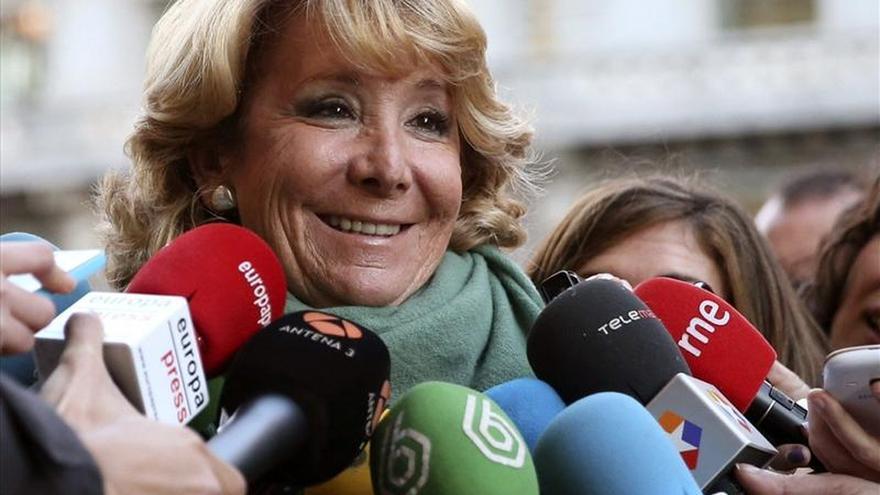 """Esperanza Aguirre: """"Ya sabéis la noticia... Gracias a todos"""""""