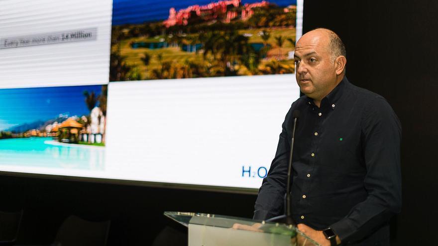 Ismael Alemán, CEO de Toyota Canarias, durante su intervención en la Cumbre del Clima 2019