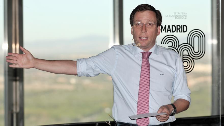 El alcalde de Madrid, José Luis Martínez- Almeida, durante su intervención en la presentación de la estrategia del Ayuntamiento para la calidad del aire de Madrid, en Madrid (España), a 30 de septiembre de 2019 / Europa Press