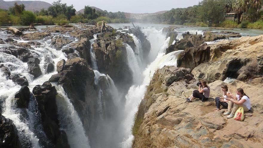 Cataratas de Epupa, en la frontera entre Namibia y Angola. Sergio Conti