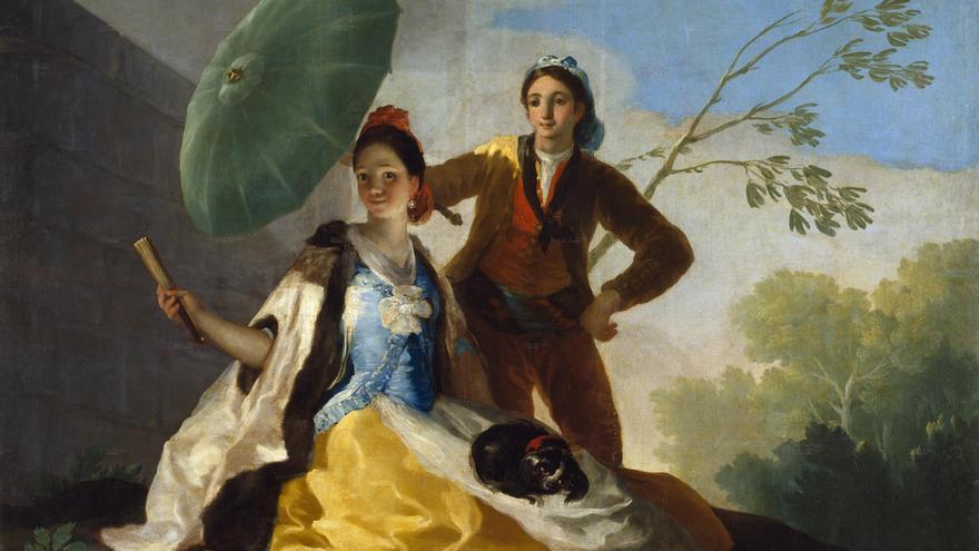 'Los Caprichos' de Goya. 'El Quitasol'.
