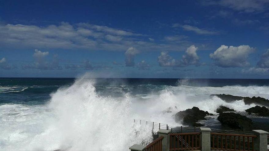 Alerta por fenómenos costeros en el norte y oeste de La Palma
