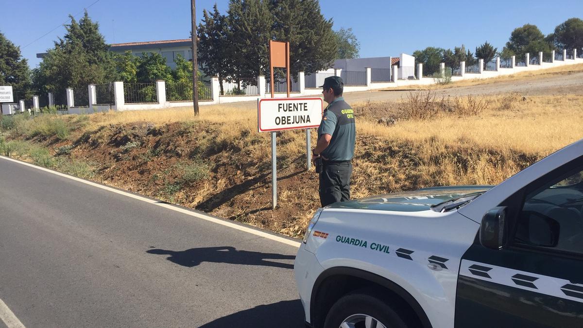 Un guardia civil en Fuente Obejuna