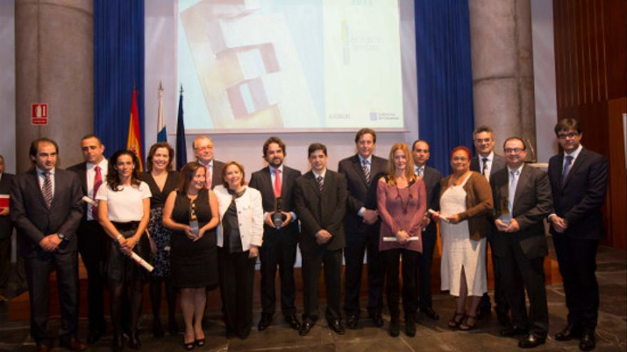 Galardonados con el Premio a la Excelencia Empresarial de Canarias 2013.