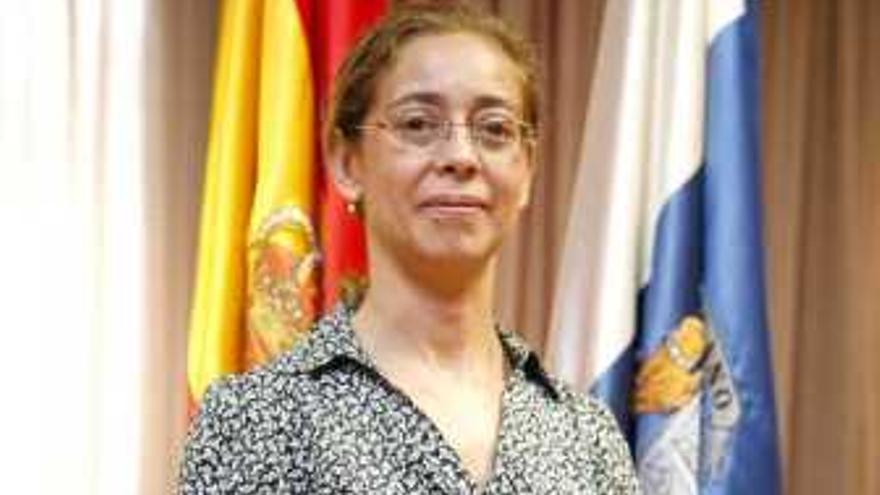 Inmaculada Acosta en su toma de posesión como secretaria general del Servicio Canario de la Salud.