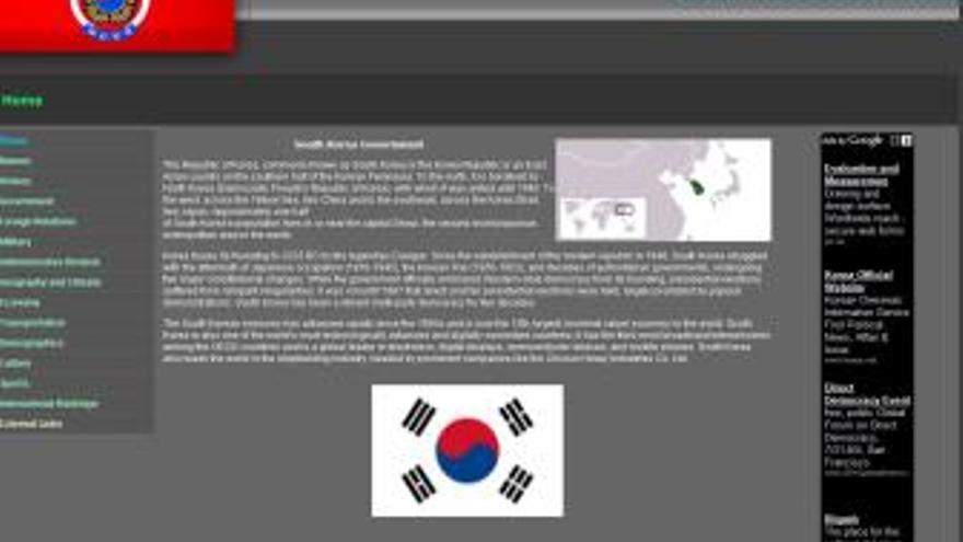 Página del Gobierno de Corea del Sur. (CANARIAS AHORA)