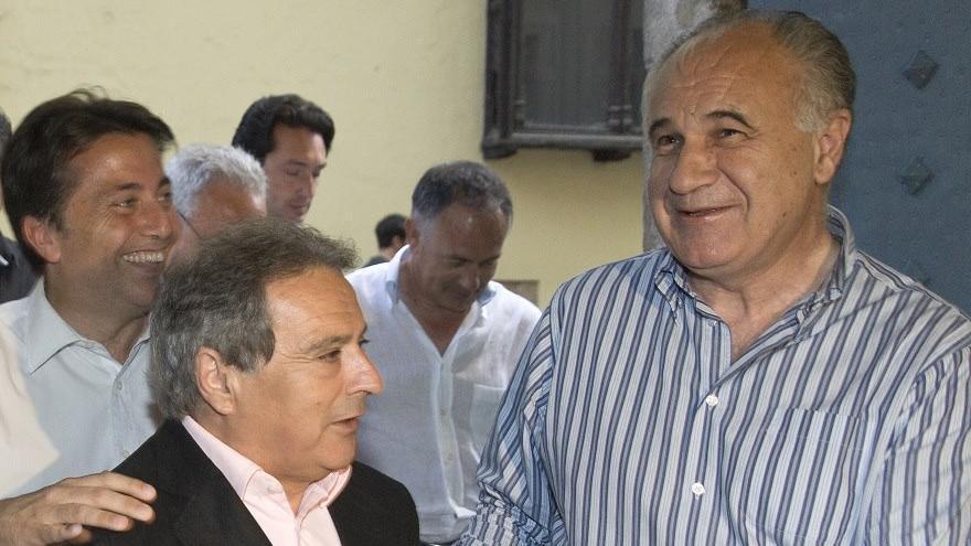 El presidente de la Diputación de Valencia, Alfonso Rus, junto al exconseller Rafael Blasco