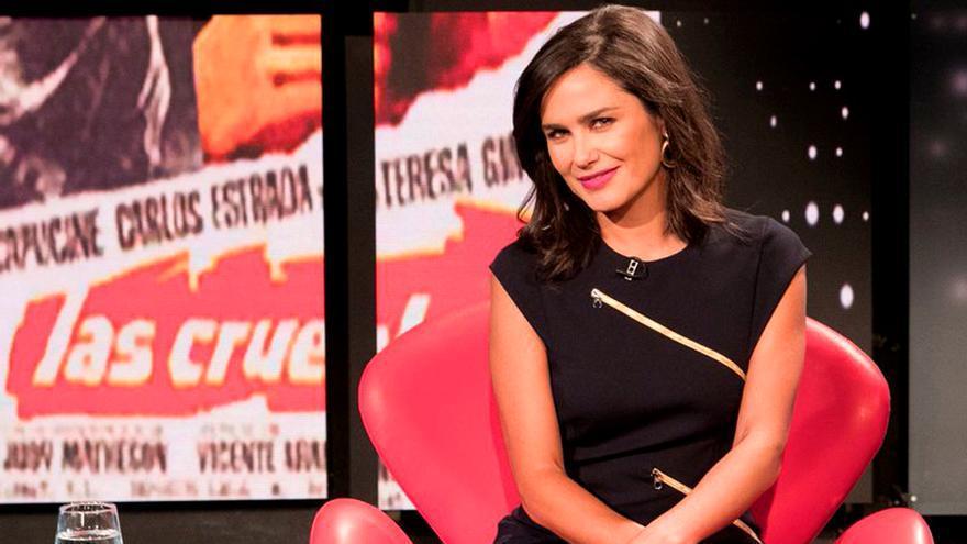 La presentadora Elena Sánchez en Historias de nuestro cine