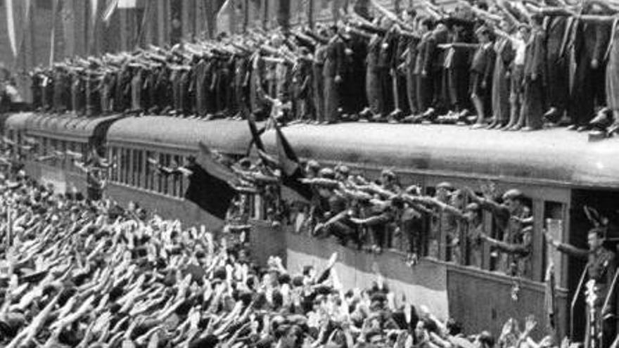 Despedida de los voluntarios de la División Azul en Madrid