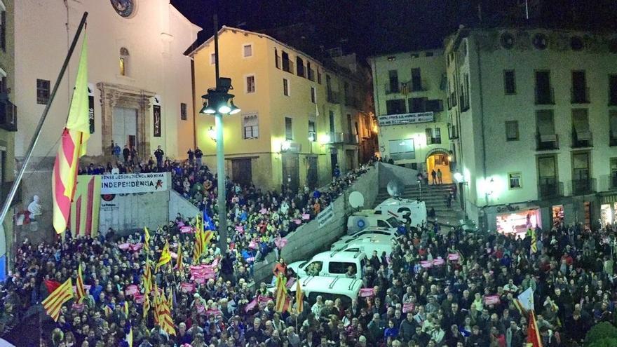 Más de 700 personas se concentran en Berga (Barcelona) tras la detención de Venturós
