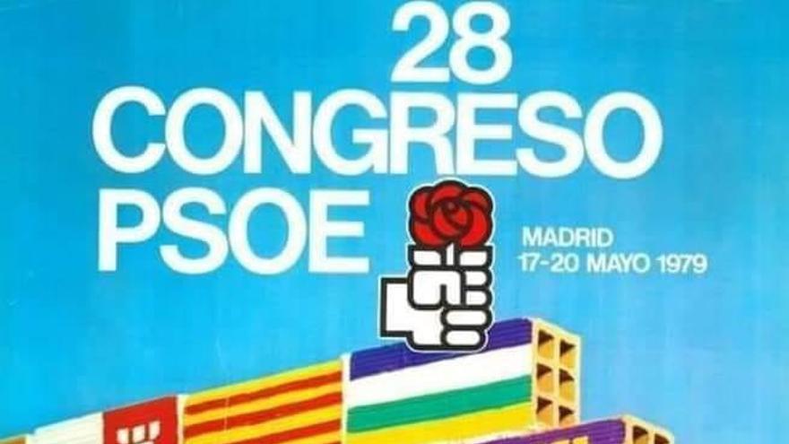Cartel del Congreso del PSOE.