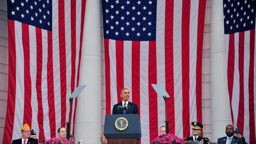 Obama llama a la reconciliación en un mensaje para los veteranos de guerra