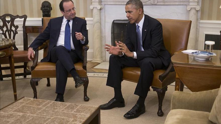Obama recibe a Hollande con recelos sobre el rol de Rusia en el combate al EI