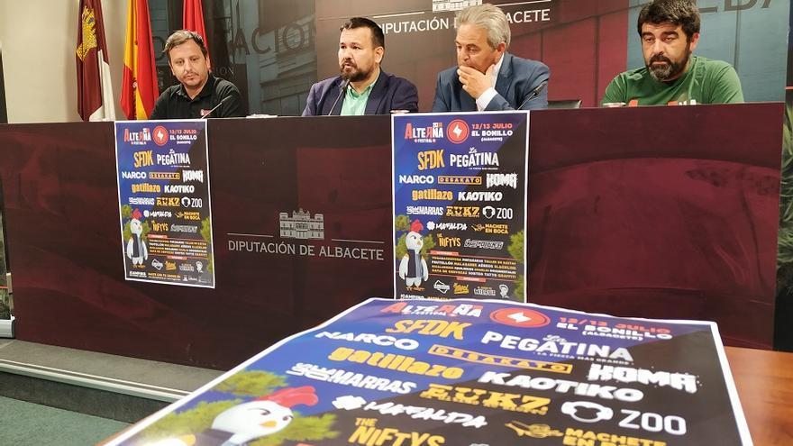Presentación del Alterna Rock este miércoles en Diputación de Albacete.