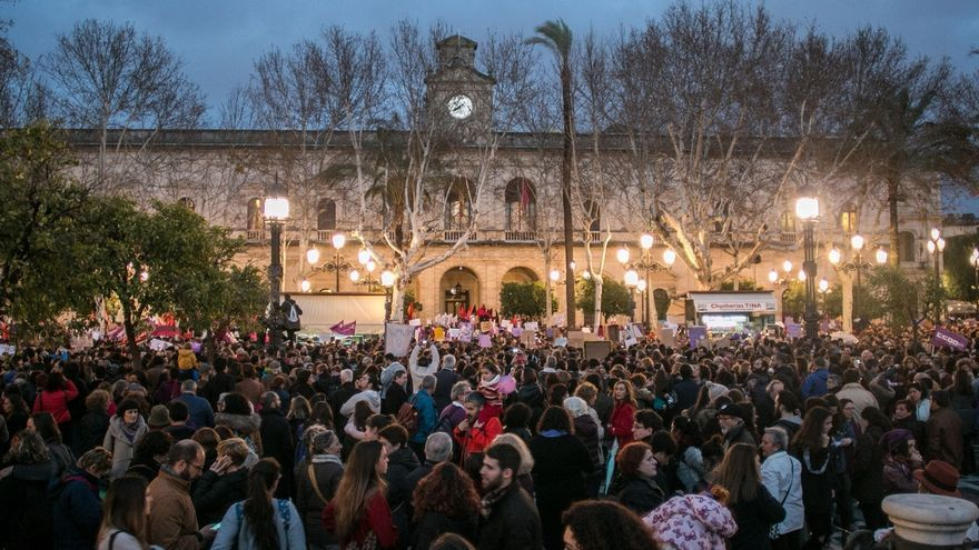 Andalucía cierra la jornada reivindicativa del Día de la Mujer con manifestaciones masivas en las grandes ciudades