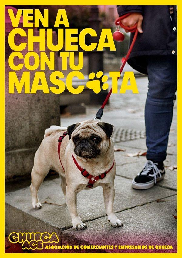 """Cartel campaña """"Ven a Chueca con tu mascota"""""""