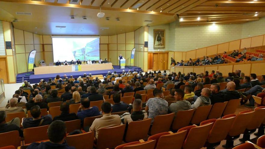 Imagen de la asamblea celebrada este sábado en el campus de Guajara de la Universidad de La Laguna