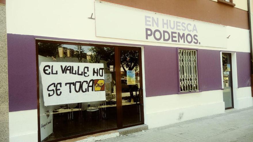 Sede de Podemos en Huesca
