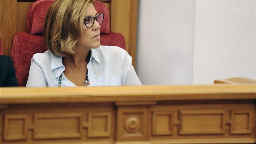 María Dolores de Cospedal en las Cortes de Castilla-La Mancha