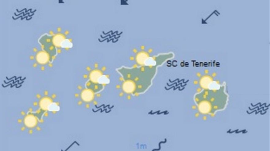 Mapa previsión meteorológica AEMET para el martes 31 de mayo
