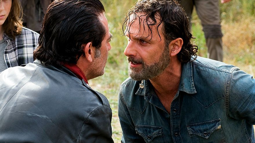 Rick y Negan en The Walking Dead